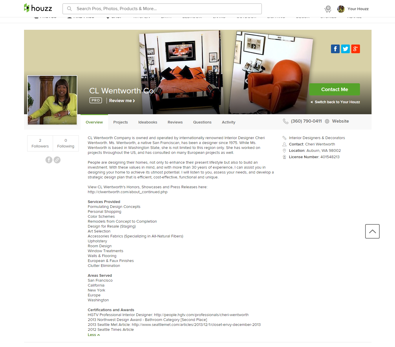 porfolio houzz profile